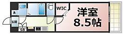 Osaka Metro千日前線 今里駅 徒歩2分の賃貸マンション 3階1Kの間取り
