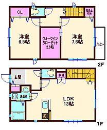 [テラスハウス] 神奈川県横浜市港北区鳥山町 の賃貸【/】の間取り