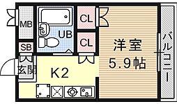 サンガーデン山科[311号室号室]の間取り