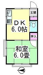 田中荘[202号室]の間取り