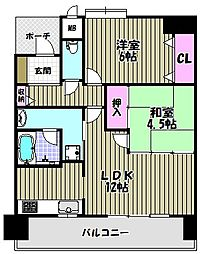 フェニックス堺東[7階]の間取り