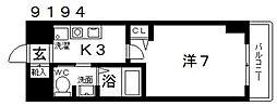 casa vera luce(カサベラルーチェ)[706号室号室]の間取り