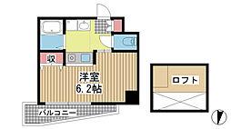 エステムコート神戸県庁前IIIフィエルテ[1008号室]の間取り