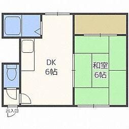 21条ビル[2階]の間取り