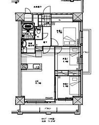 グランシャリオ三萩野[14階]の間取り