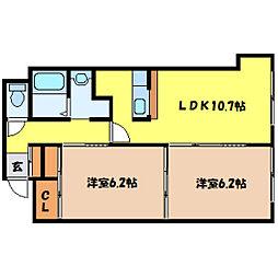 北海道札幌市北区北十条西4丁目の賃貸マンションの間取り