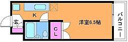 東京都調布市深大寺東町3丁目の賃貸マンションの間取り