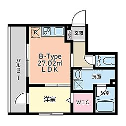 JR東海道・山陽本線 立花駅 徒歩4分の賃貸マンション 3階1LDKの間取り
