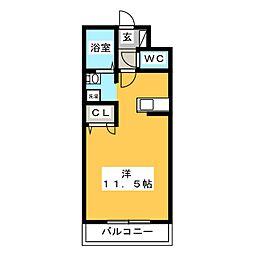 エル・フィネス三島[3階]の間取り