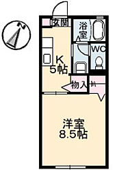 広島県広島市南区宇品海岸1丁目の賃貸アパートの間取り