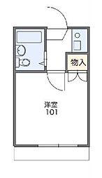 東京都武蔵野市西久保1丁目の賃貸アパートの間取り