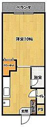 コーポラス坂井[2階]の間取り
