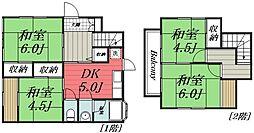 [一戸建] 千葉県千葉市若葉区若松町 の賃貸【/】の間取り