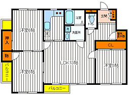 東京都立川市錦町3丁目の賃貸マンションの間取り