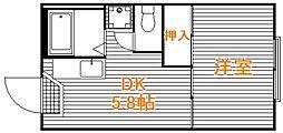 東京都板橋区舟渡3丁目の賃貸アパートの間取り