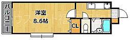 クレアトゥール地行[2階]の間取り
