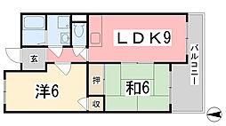 ウイング姫路西庄[103号室]の間取り