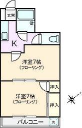 メゾンカルム[1階]の間取り