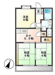 アメニティ88[4階]の間取り