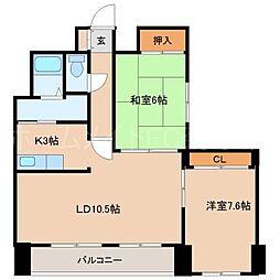 藤井ビル菊水III[8階]の間取り