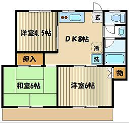 イナタケハウス[2階]の間取り