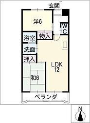 メゾン・パトラージュI[3階]の間取り