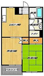 東京都江戸川区南葛西5丁目の賃貸アパートの間取り