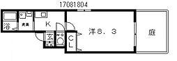 メモリーコートミサ[1階]の間取り