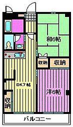 榎本マンション[205号室]の間取り