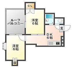 メジテラーネ薬院[5階]の間取り