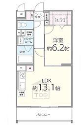 北大阪急行電鉄 千里中央駅 徒歩15分の賃貸マンション 3階1LDKの間取り