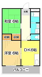 埼玉県志木市幸町2丁目の賃貸マンションの間取り