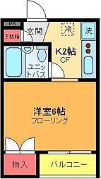 マ・メゾン・アヤセ[203号室]の間取り