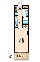 神奈川県横浜市南区宿町4丁目の賃貸マンションの間取り