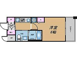 阪急京都本線 南方駅 徒歩10分の賃貸マンション 9階1Kの間取り