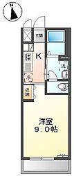 横浜市営地下鉄ブルーライン 戸塚駅 徒歩20分の賃貸アパート 1階1Kの間取り