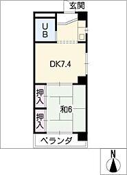 松栄栢ノ木ビル[1階]の間取り