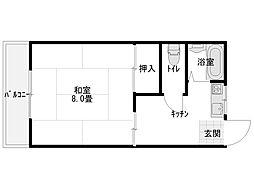 コーポ斎藤B[203号室]の間取り