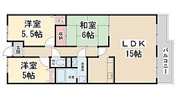 セレーノ花屋敷[106号室]の間取り