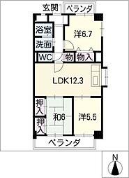 プレシオン猫洞[1階]の間取り