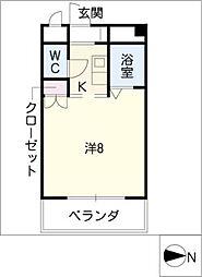 愛知県名古屋市熱田区神宮2丁目の賃貸マンションの間取り