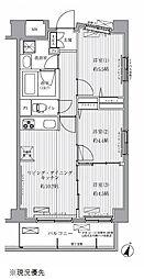 サニーリヴ北新横浜[3階]の間取り