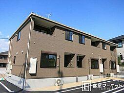 愛知県岡崎市真伝町字魂場の賃貸アパートの外観