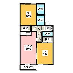 サンピア高根台 A棟[2階]の間取り
