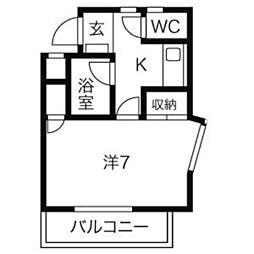 山富第3マンション[206号室]の間取り