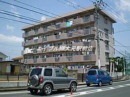 岡山県岡山市北区庭瀬の賃貸マンションの外観