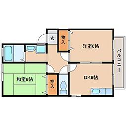 静岡県静岡市葵区平和3丁目の賃貸アパートの間取り