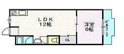 和ハイツ3[4階]の間取り