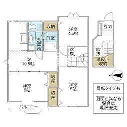 クレストアヅマ 2[203号室号室]の間取り