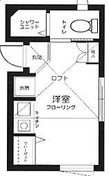 東京都新宿区北新宿3丁目の賃貸アパートの間取り
